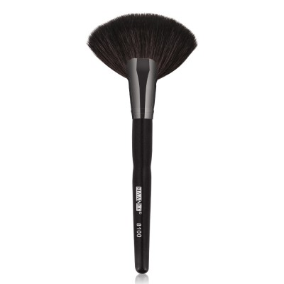 Large Fan-Shaped Powder Brush, Pensula Fan Pudra din Par Natural